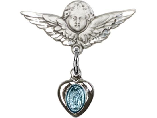 Miraculous Blue Epoxy<br>Baby Badge - 0217B/0735