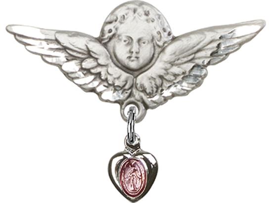 Miraculous Pink Epoxy<br>Baby Badge - 0217P/0733