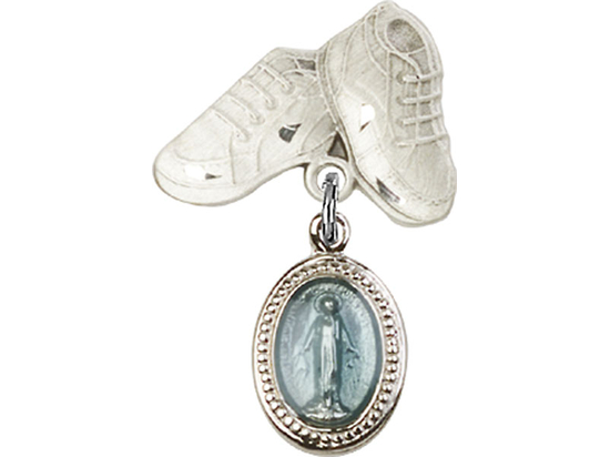 Miraculous Blue Epoxy<br>Baby Badge - 0700B/5923