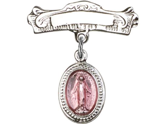Miraculous Pink Epoxy<br>Baby Badge - 0700P/0732