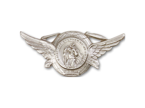 Saint Christopher<br>1018V - 1 1/4 x 2 7/8<br>Visor Clip