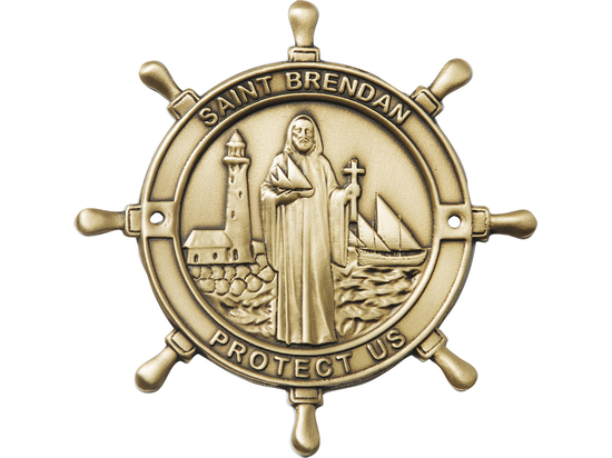 Saint Brendan Boat Plaque<br> 1032 - 3 x 3