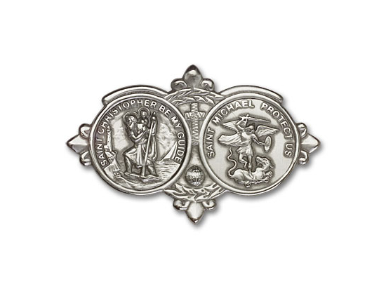 Saint Christopher St Michael<br>1034V - 2 x 3 1/8<br>Visor Clip