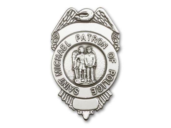 Saint Michael Police<br>1092V - 2 1/2 x 1 1/2<br>Visor Clip