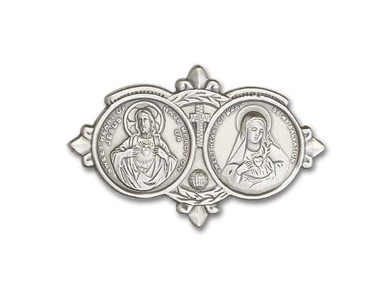 Jesus Mary<br>Visor Clip - 1096V