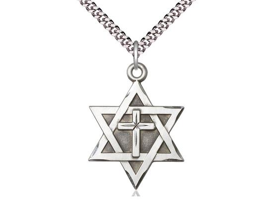 Star of David w/ Cross<br>1212Y - 1 1/4 x 7/8
