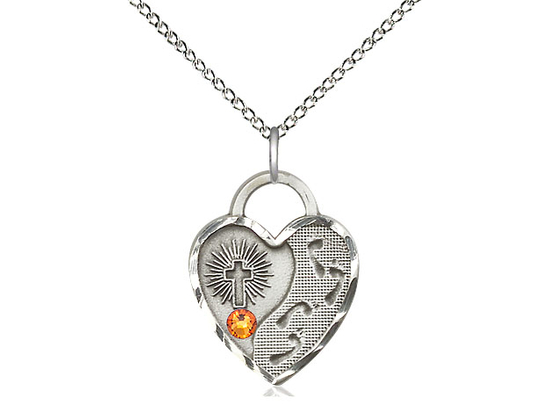 3207 - Footprints Heart<br>Available in 12 colors