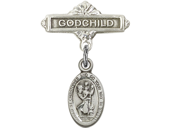 St Christopher<br>Baby Badge - 4121C/0736