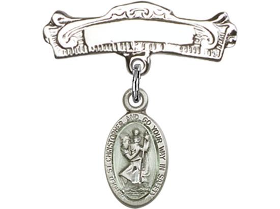 St Christopher<br>Baby Badge - 4121EC/0732