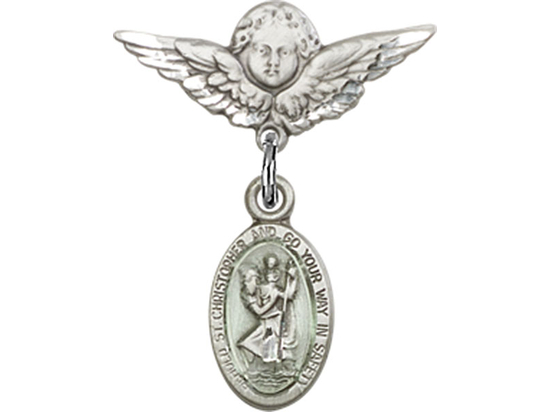 St Christopher<br>Baby Badge - 4121EC/0735