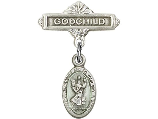 St Christopher<br>Baby Badge - 4121EC/0736