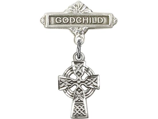 Celtic Cross<br>Baby Badge - 4133/0736
