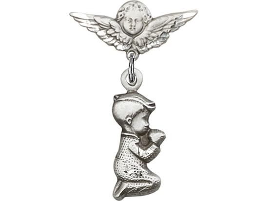 Praying Boy<br>Baby Badge - 4263/0735
