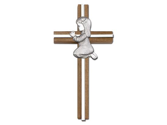 Praying Girl<br>5070 - 6 x 3<br>Wall Cross