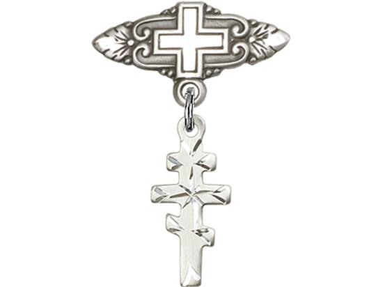 Greek Orthadox Cross<br>Baby Badge - 5654/0731