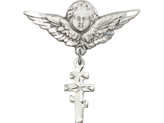 Greek Orthadox Cross<br>Baby Badge - 5654/0733