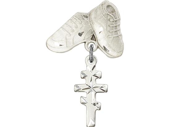 Greek Orthadox Cross<br>Baby Badge - 5654/5923