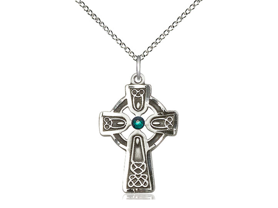 Celtic Cross w/ Emerald Stone<br>5689 - 1 x 5/8
