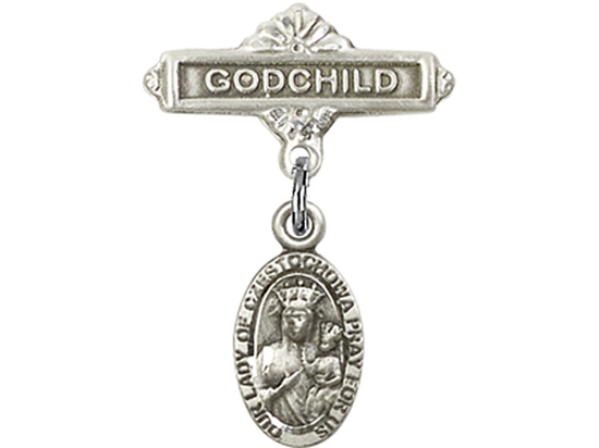Our Lady of Czestochowa<br>Baby Badge - 6091/0736