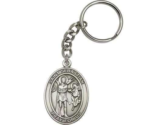 Saint Sebastian<br>6800SRC - 1 7/8 x 1 1/4<br>KeyChain