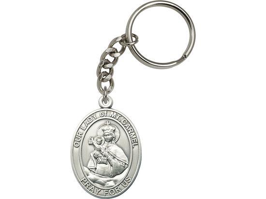 Our Lady of Mount Carmel Scapular<br>6943SRC - 1 7/8 x 1 1/4<br>KeyChain