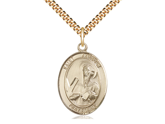 St Andrew the Apostle<br>Oval Patron Saint Series<br>Available in 3 Sizes