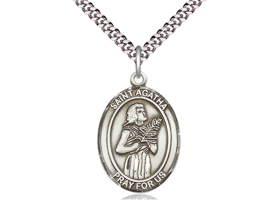 St Agatha<br>Oval Patron Saint Series<br>Available in 3 Sizes