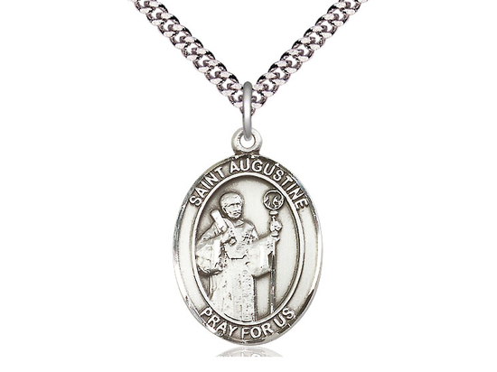 St Augustine<br>Oval Patron Saint Series<br>Available in 3 Sizes