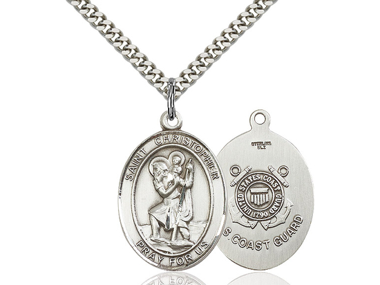 St Christopher Coast Guard<br>Oval Patron Saint Series<br>Available in 2 Sizes