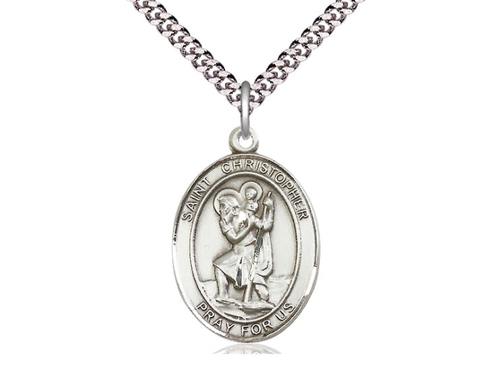 St Christopher<br>Oval Patron Saint Series<br>Available in 3 Sizes