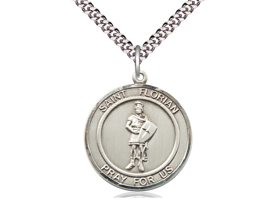 St Florian<br>Round Patron Saint Series<br>Available in 2 Sizes