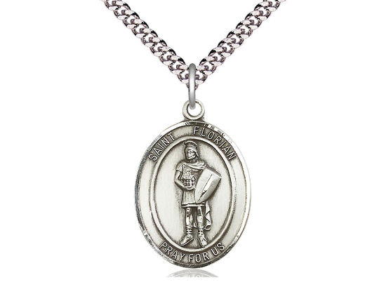 St Florian<br>Oval Patron Saint Series<br>Available in 3 Sizes