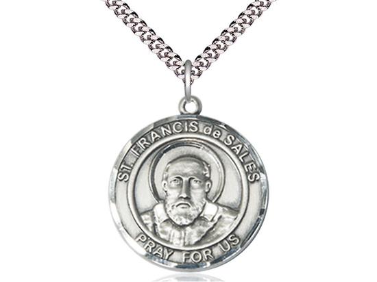 St Francis de Sales<br>Round Patron Saint Series<br>Available in 2 Sizes