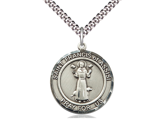 St Francis of Assisi<br>Round Patron Saint Series<br>Available in 2 Sizes