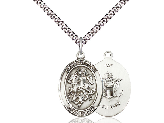 St George Army<br>Oval Patron Saint Series<br>Available in 2 Sizes