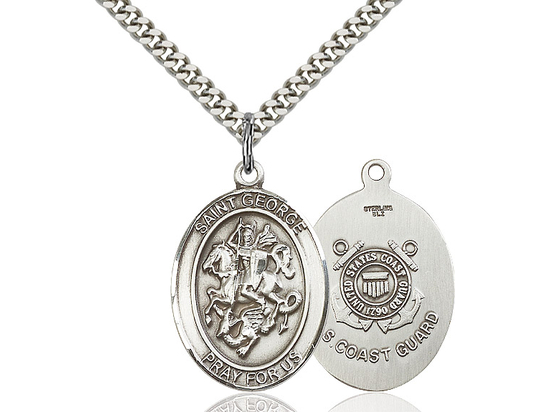 St George Coast Guard<br>Oval Patron Saint Series<br>Available in 2 Sizes