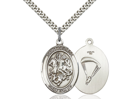 St George Paratrooper<br>Oval Patron Saint Series<br>Available in 2 Sizes