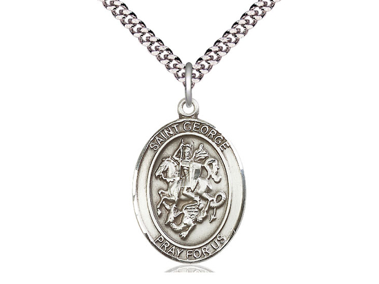 St George<br>Oval Patron Saint Series<br>Available in 3 Sizes