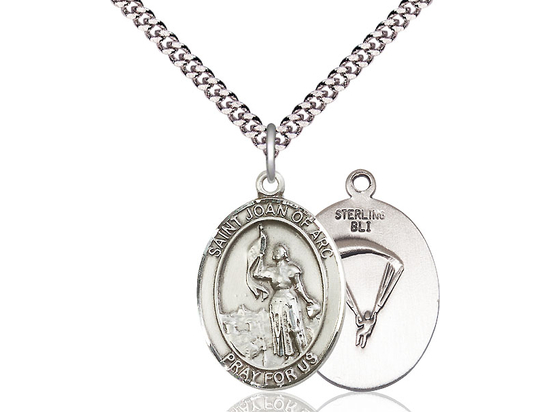St Joan of Arc Paratrooper<br>Oval Patron Saint Series<br>Available in 2 Sizes