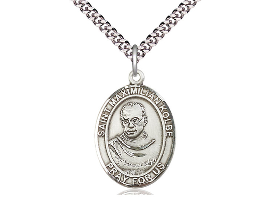 St Maximilian Kolbe<br>Oval Patron Saint Series<br>Available in 3 Sizes