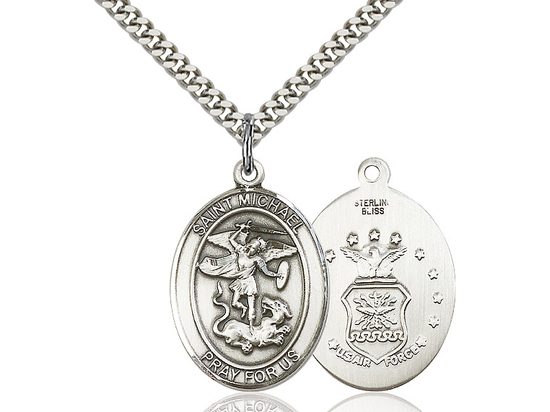 St Michael Air Force<br>Oval Patron Saint Series<br>Available in 2 Sizes