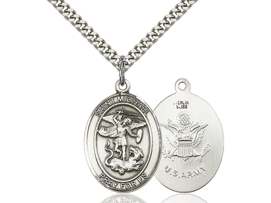 St Michael Army<br>Oval Patron Saint Series<br>Available in 2 Sizes