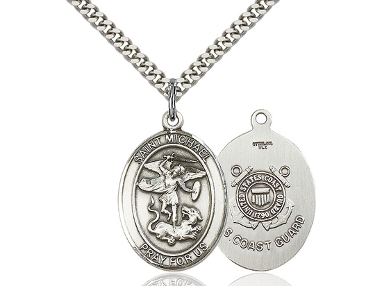 St Michael Coast Guard<br>Oval Patron Saint Series<br>Available in 2 Sizes