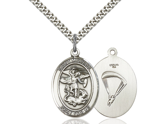 St Michael Paratrooper<br>Oval Patron Saint Series<br>Available in 2 Sizes