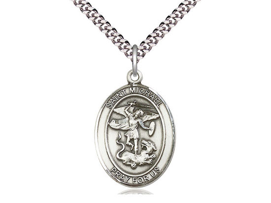 St. Michael the Archangel<br>Oval Patron Saint Series<br>Available in 3 Sizes