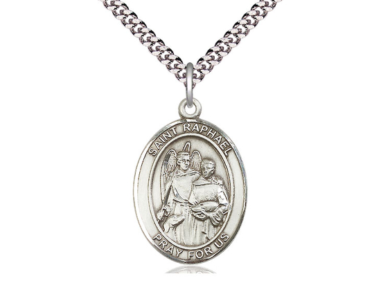 St Raphael the Archangel<br>Oval Patron Saint Series<br>Available in 3 Sizes