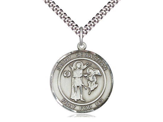 St Sebastian<br>Round Patron Saint Series<br>Available in 2 Sizes