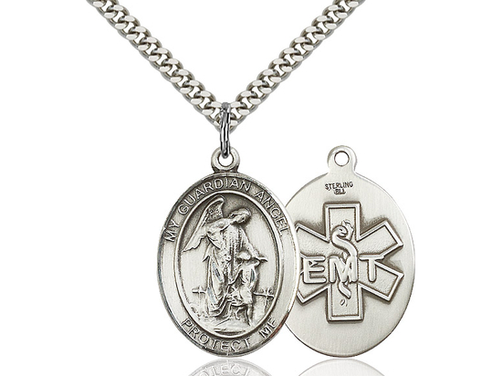 Guardian Angel EMT<br>Oval Patron Saint Series<br>Available in 2 Sizes