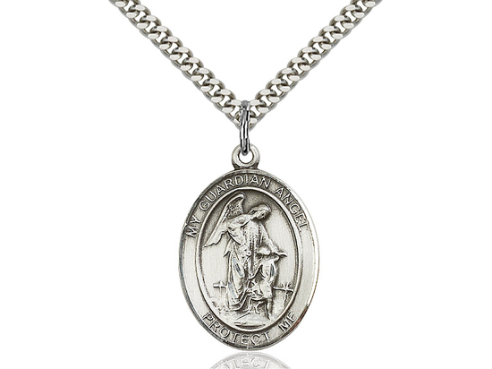 Guardian Angel<br>Oval Patron Saint Series<br>Available in 3 Sizes