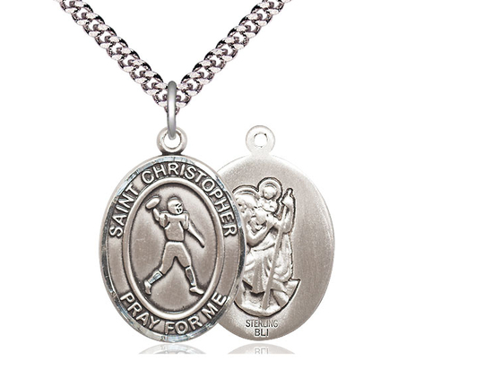 St Christopher Football<br>Oval Patron Saint Series<br>Available in 3 Sizes